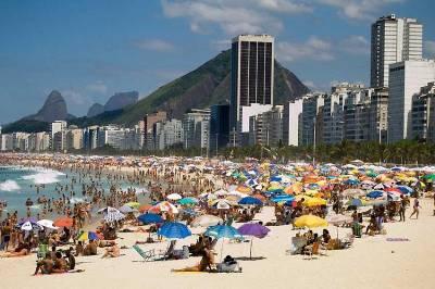 Copacabana Beach Crowds, Visit Rio de Janeiro