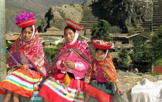 Dressed for Tourist Tips, Ollantaytambo Visit