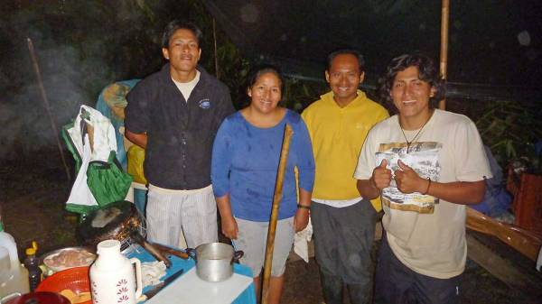 Expedition Crew, Camp Cooking Shelter, Tambopata River Adventure