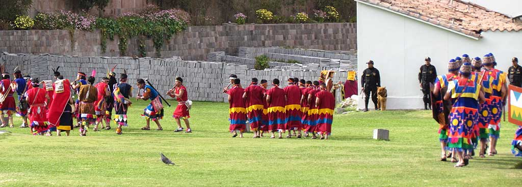 Inti Raymi Festival Clebrations, Qoricancha Grounds