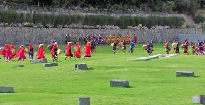 Inti Raymi Festival Performers, Qoricancha Grounds