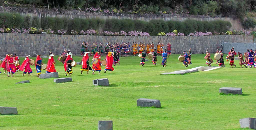 Inti Raymi Festival Performers, Qoricancha Grounds
