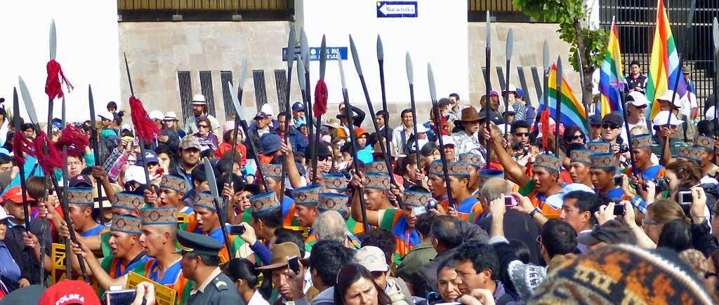 Inti Raymi Festival Warrior Procession