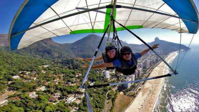 Hands Free, Just Fly, Sao Conrado Beach, Hang Gliding Rio