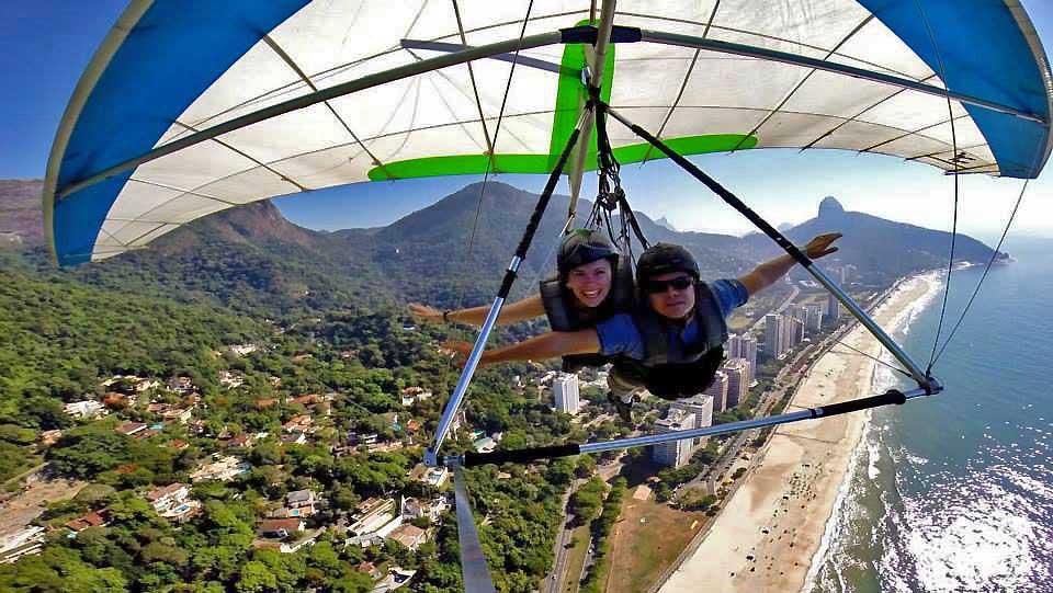 Hands Free, Just Fly, Sao Conrado Beach, Hang Gliding Rio