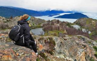 Kathryn, Grey Glacier View, Hiking Torres del Paine W Circuit Trek