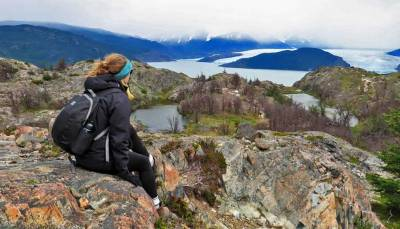 Kathryn, Grey Glacier View, Hiking Torres del Paine