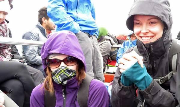 Keeping Warm, Lake Pehoe Ferry, Hiking Torres del Paine W Circuit Trek