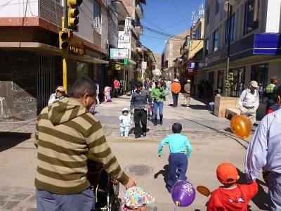 Lima Street, Pedestrian Walk, Visit Puno