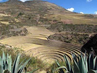 Moray Inca Ruins from Above, Maras Moray Day Trip