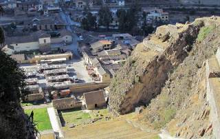Ollantaytambo Old Town from Ruins