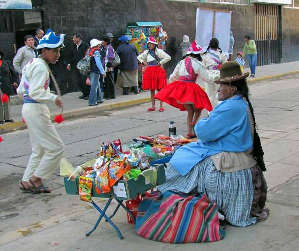 Parade Route Vendor, Altitude Sickness in Puno
