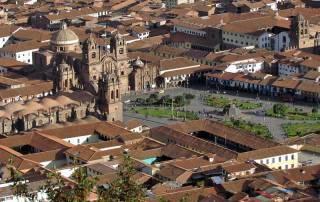Plaza de Armas, Cusco from Sacsayhuaman Visit