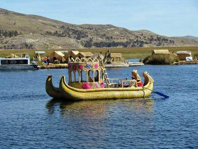 Reed Boat, Uros Islands Tour, Lake Titcaca