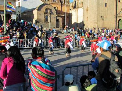 School Parade, Plaza de Armas, Visit Cusco