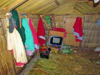Television in Reed Shelter, Uros Islands Tour