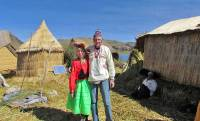 Tim and Viki, Uros Islands Tour, Lake Titcaca