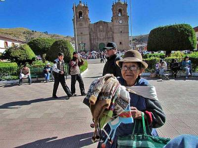 Vendor, Plaza de Armas, Visit Puno