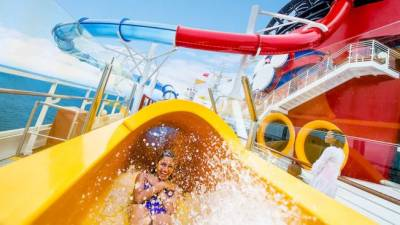 Aquadunk Water Slide, Disney Magic, Disney Cruise Line