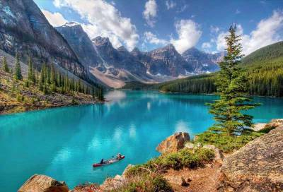 Canoe, Moraine Lake, Visit Banff National Park