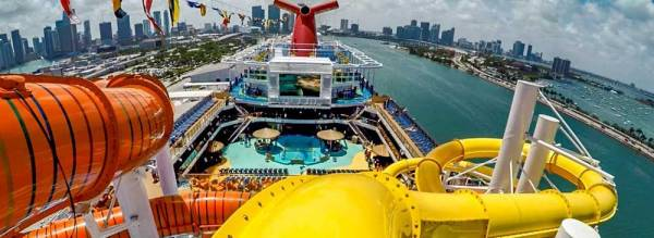 Carnival Vista Water Slide, Carnival Cruise Line