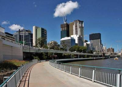 Cycling Path, Brisbane River, Visit Brisbane, Australia