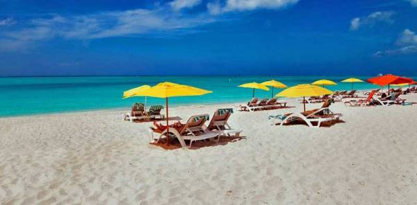 Grace Bay Beach Umbrellas, Visit Turks & Caicos