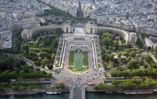 Jardins du Trocadero, View from Eiffel Tower, Paris Visit
