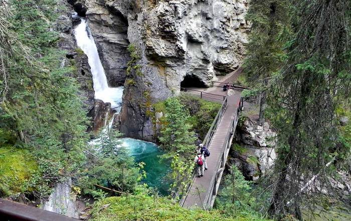 Lower Falls, Hiking Johnston Canyon