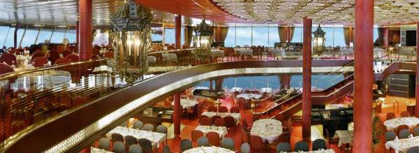 Main Dining Room, Two Story Tiered, Holland America Line Cruises