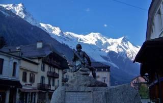 Michel Gabriel Paccard Bronze Statue, Chamonix Mont-Blanc