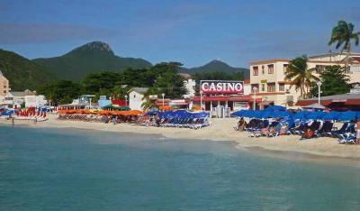 Philipsburg, Beach Chairs and Umbrellas, Visit St Maarten