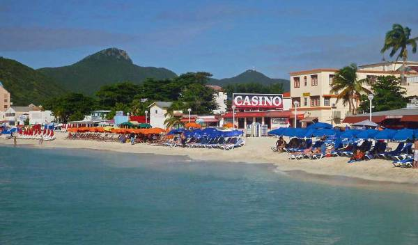 Philipsburg, Beach Chairs and Umbrellas, Visit St Maarten
