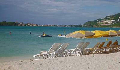 Philipsburg Beach Umbrellas, Visit St Maarten