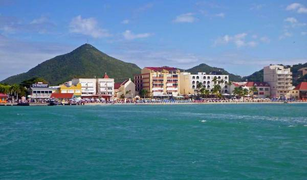 Philipsburg from water taxi, Visit St Maarten