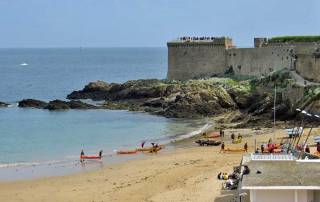 Plage de Bon Secours, St Malo, Mont St-Michel Day Trip