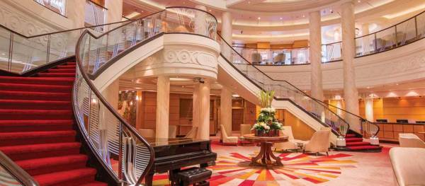 Grand Lobby, Queen Mary 2, Cunard Line