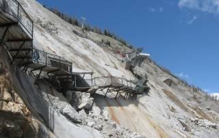 Stairway, Mer de Glace Ice Field, Chamonix Mont-Blanc Visit