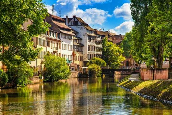 Strasbourg, Alsace, Canal Boating France