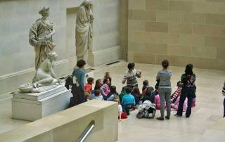 Students, the Louvre, Paris Visit