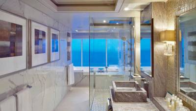 Crystal Symphony, Penthouse Bathroom, Crystal Cruises