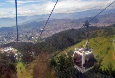Teleferico Gondola with Views of Quito