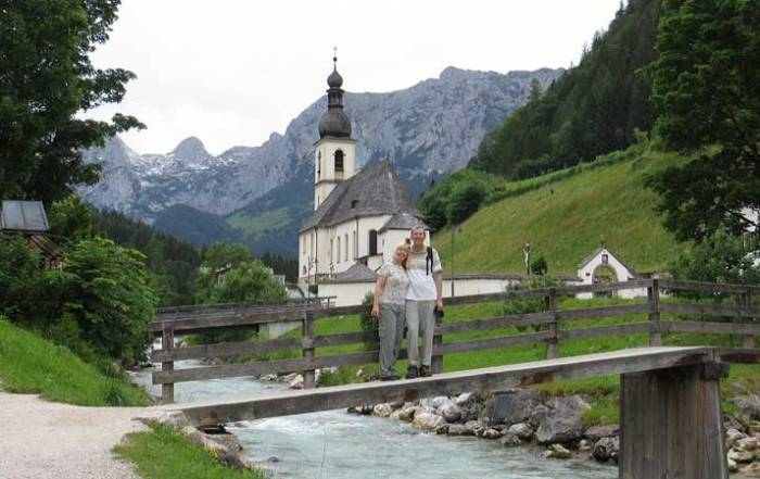 Tim and Viki, Parish Church of St Sebastian, Ramsau, Berchtesgaden Visit