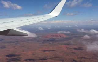 Uluru from Airplane View, Visit Red Centre