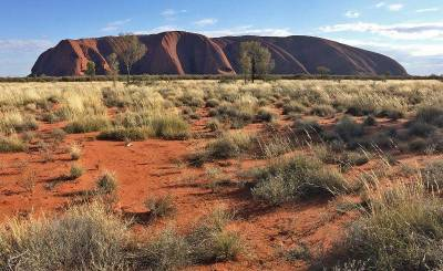Uluru Stands out from Plains, Visit Red Centre