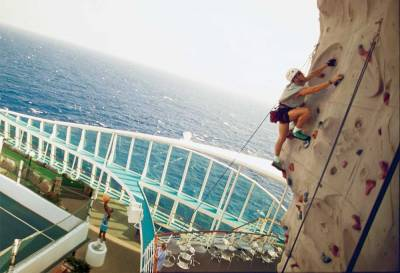 Voyager of the Seas, Rock Climbing Wall, Royal Caribbean International