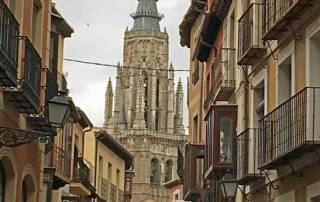 Approaching Toledo Cathedral, Spain, Madrid Tour