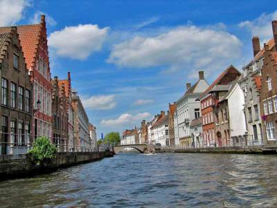 Bruges Canal, Amsterdam Layover