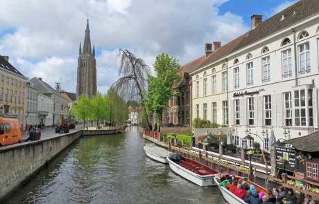 Bruges Canals, Church of Our Lady, Amsterdam Layover