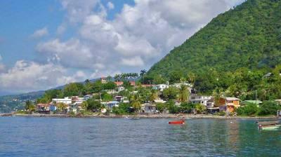 Pointe Michel, Champagne Reef Snorkel, Dominica Coast Line